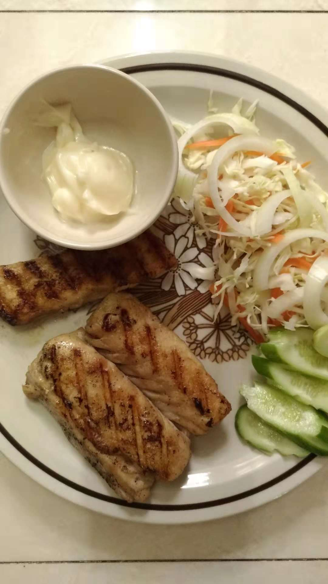 grilled fish steak recipe