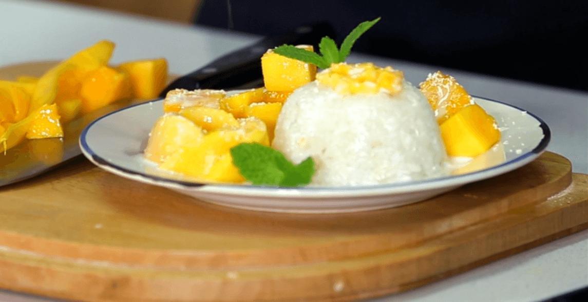 Mango sticker rice thai style