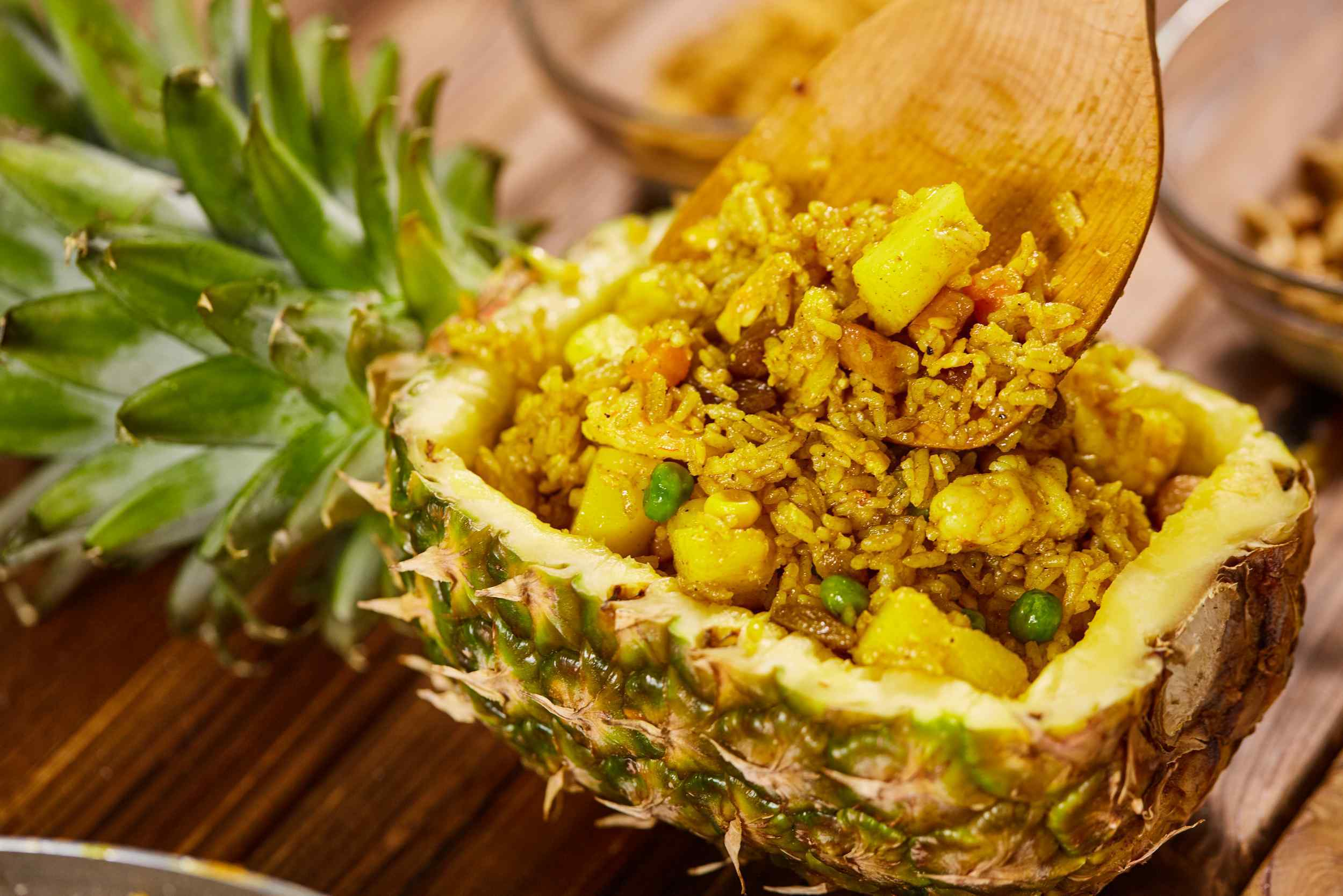 Thai style pineapple fried rice recipe